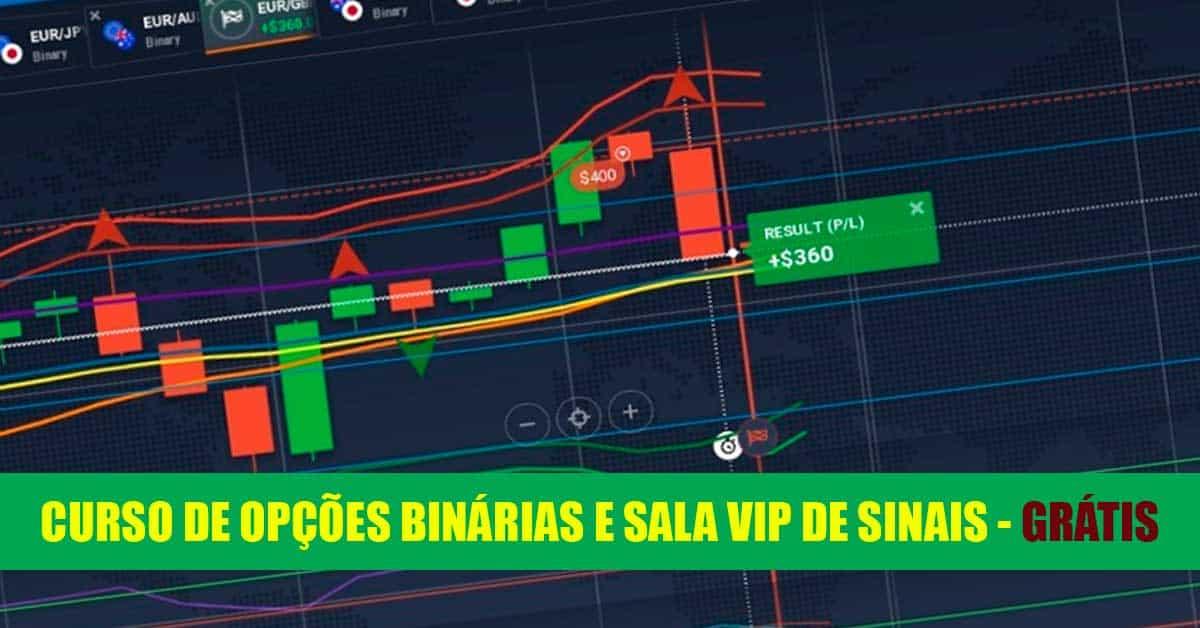 Curso de Opções Binárias e  Sala de Sinais VIP – GRÁTIS